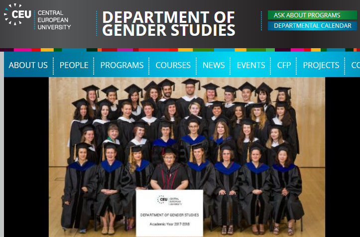 Class of 2017/18 at CEU's Department of Gender Studies https://gender.ceu.edu/