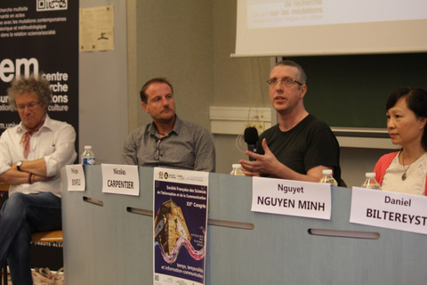 First joint SFSIC/IAMCR panel on the Histories of Communication Studies project. Photo: Pierre Morelli