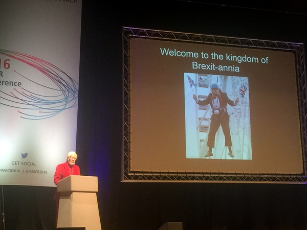 Professor Graham Murdock's plenary talk was humorous and inspiring...