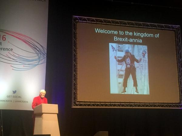 Professor Graham Murdock's plenary talk was humorous and inspiring...