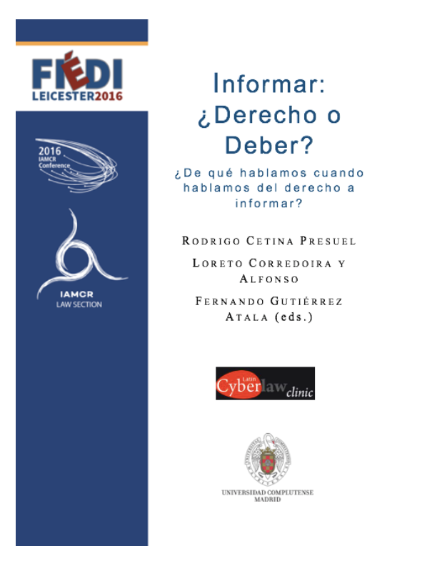 Informar: Derecho o deber / Communication: Right or duty