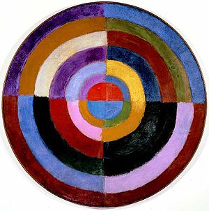 Abstract art - Robert Delaunay, 1912–13, Le Premier Disque. Source: https://en.wikipedia.org/wiki/Abstract_art