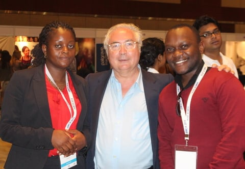From left to right: Carole Chibbonta, Manuel Castells and Elastus Mambwe