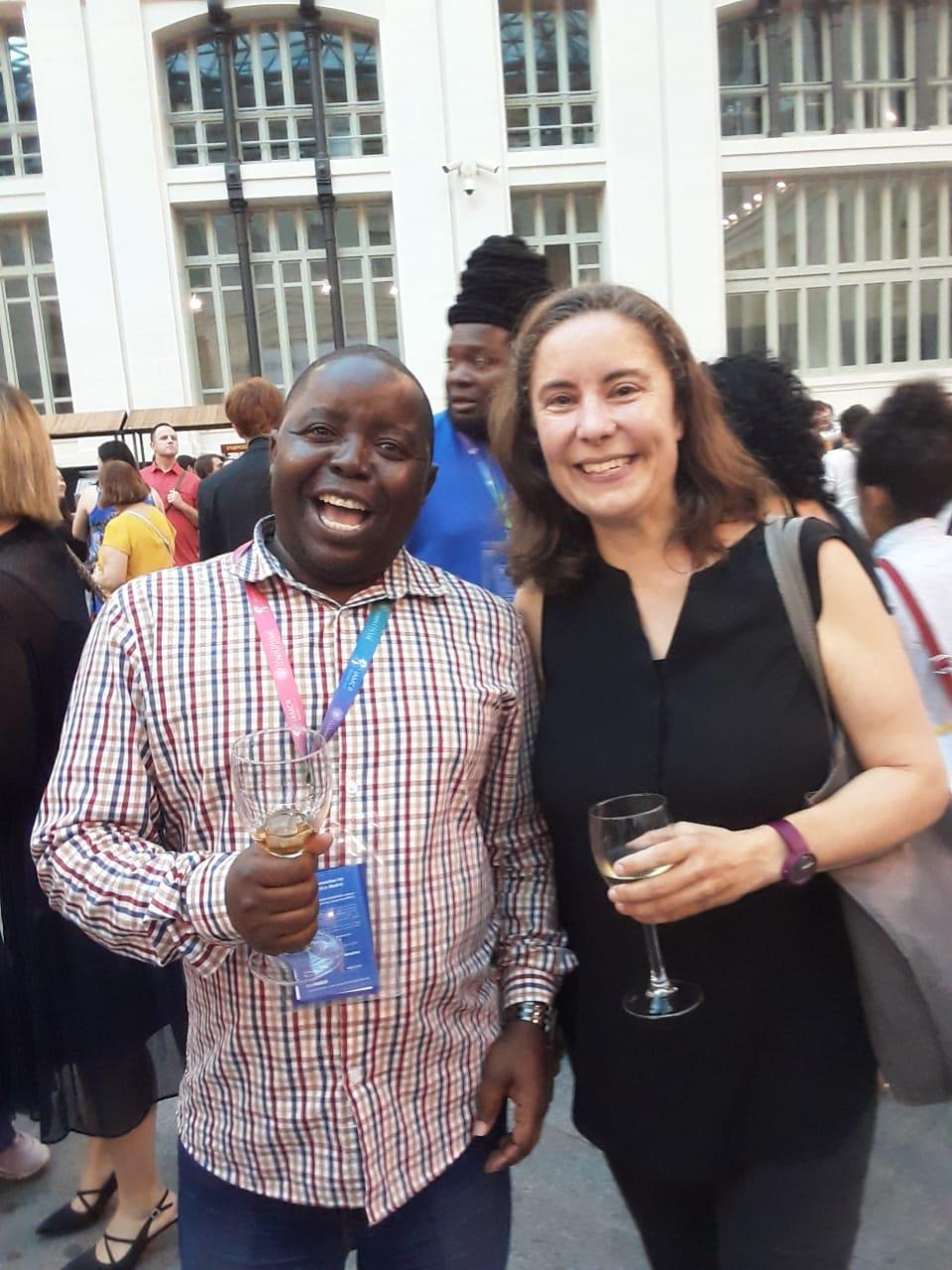 Allen Munoriyarwa at IAMCR 2019 opening event in Madrid