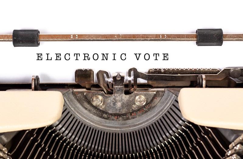 Photo (cc) Flickr user Trending Topics 2019/electronic vote
