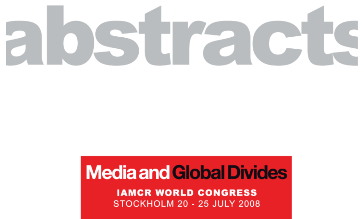 IAMCR 2008 abstracts