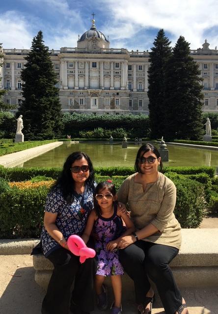 Kajalie Shehreen Islam sightseeing in Madrid