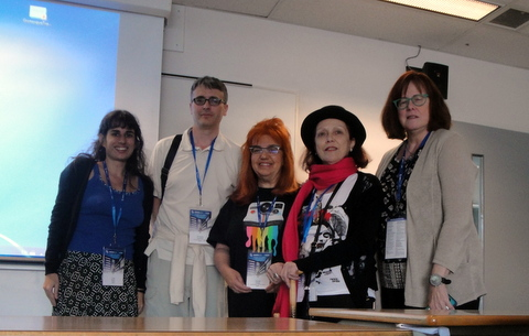 Luíza Alvim (left) with other members of the Visual Culture Working Group