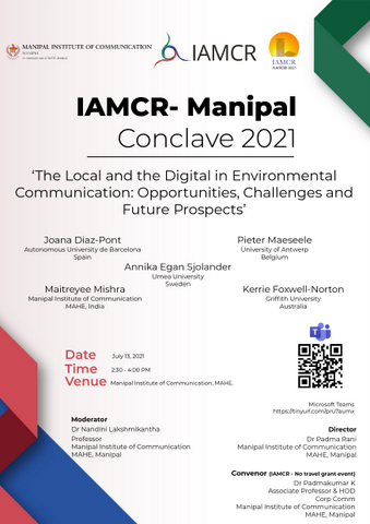 Manipal Conclave 2021 - Day 1 poster