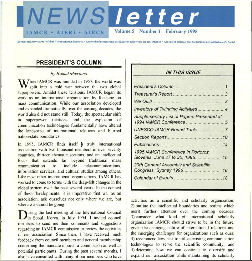 Newsletter February 1995 Vol 5 No 1